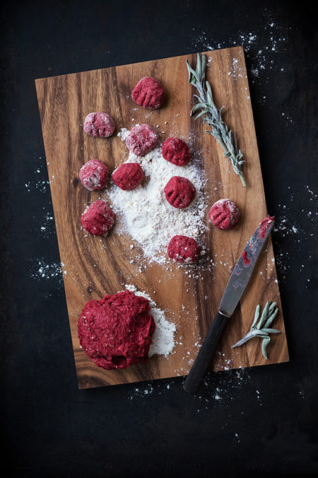 Rote Beete Gnocchi Lisa Nieschlag Food Fotografie