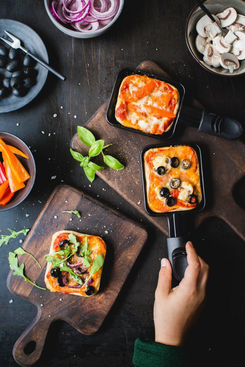 Pizza Raclette zu Silvester