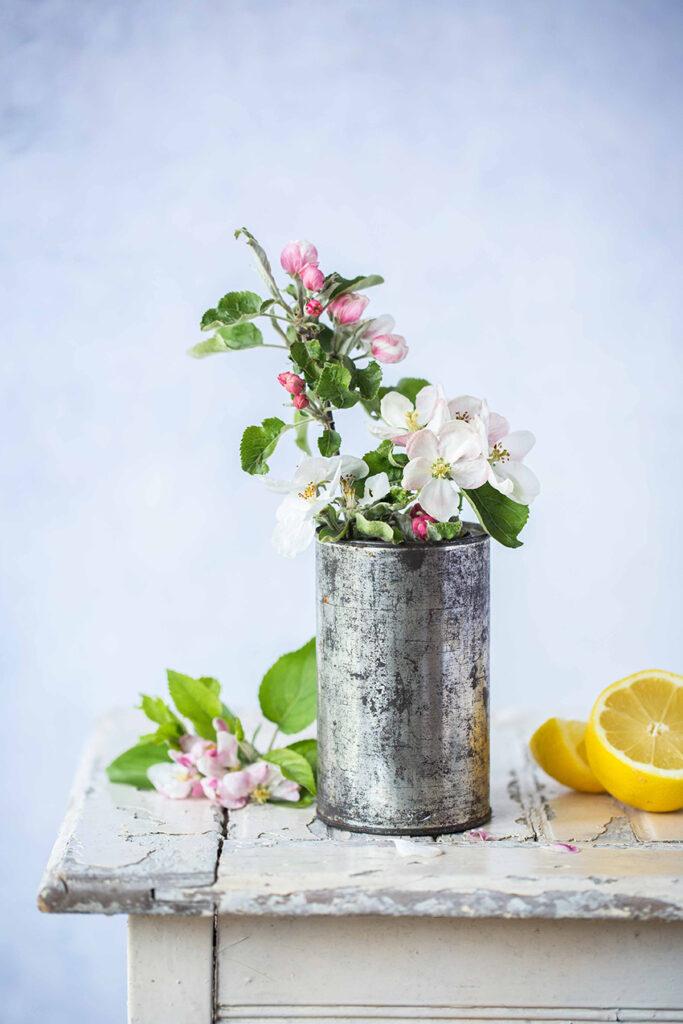 Apfelblüte für Beeren-Tartelettes