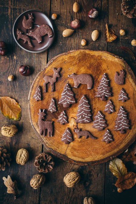 Waldtiere-Schokoladen-Kekse Lisa Nieschlag Liz&Friends